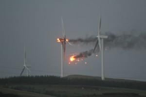 Éolienne en Feu